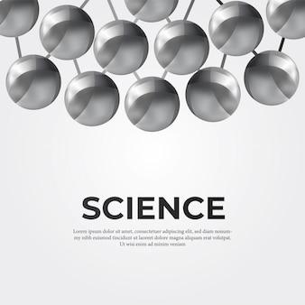 Metalen bol structuur molecuul