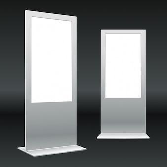 Metalen constructies met blanco displays
