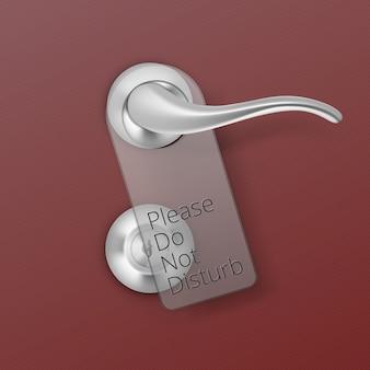 Metalen deur handvat lock met hanger op achtergrond