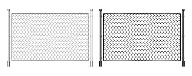 Metalen draad hek illustratie