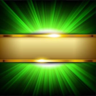 Metalen gouden banner