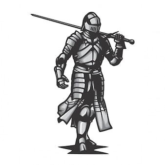 Metalen harnas ridder vector