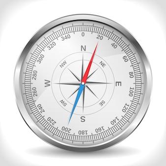 Metalen kompas, illustratie