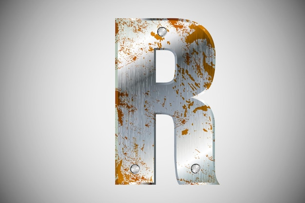 Metalen letters van het alfabet. illustratie