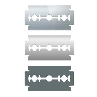 Metalen scheermesjes set