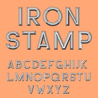 Metalen stempel lettertype