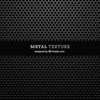 Metalen structuur met zeshoekige vormen