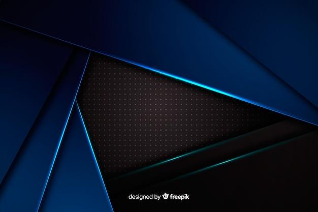 Metalen textuur blauwe vormen achtergrond