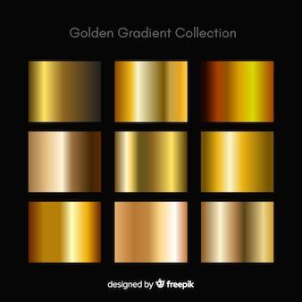 Metalen textuur gouden verloop instellen