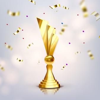 Metalen trofee cup