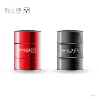 Metalen vaten op witte achtergrond, illustratie