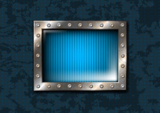 Metalen venster met klinknagels