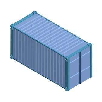 Metalen vierkante container geïsoleerd op de achtergrond