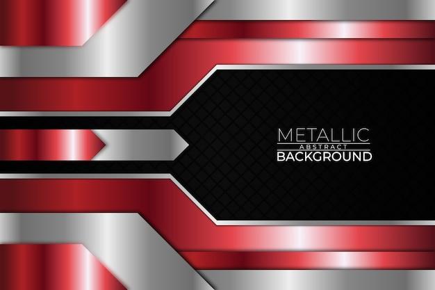 Metallic abstracte achtergrond vierkante rode stijl