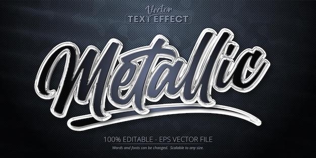 Metallic bewerkbaar teksteffect