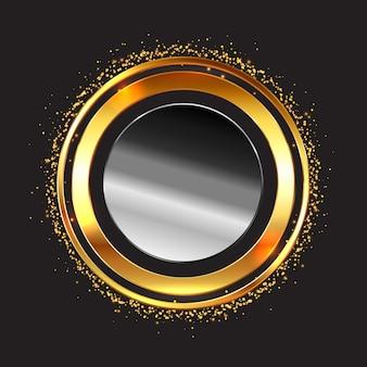 Metallic cirkelvormig frame
