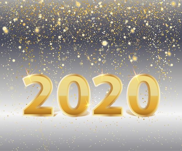 Metallic goud nummer 2020 achtergrond