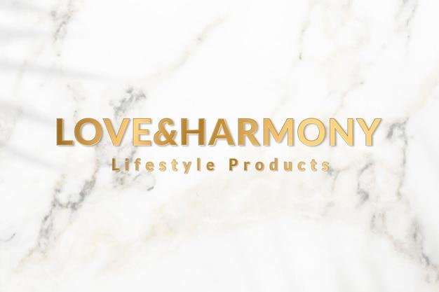 Metallic gouden logo sjabloon vector voor lifestyle producten business