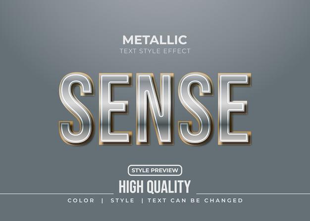 Metallic tekststijleffect met gouden lijnen