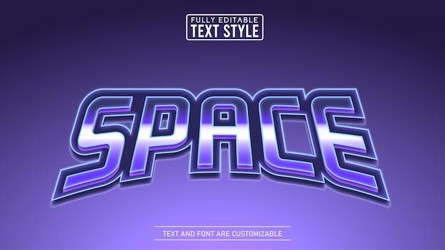 Metallic void space game en filmtitel bewerkbaar teksteffect