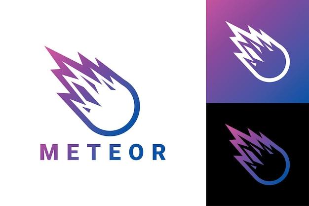 Meteoor logo sjabloon premium vector