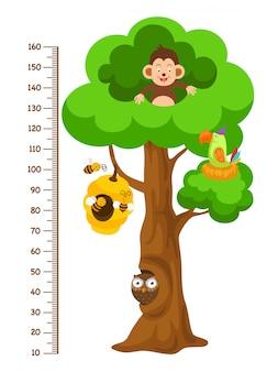 Metermuur met boom