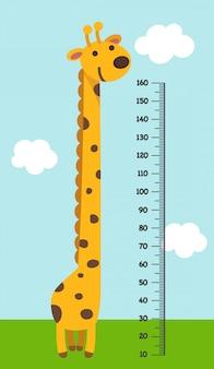 Metermuur met giraf. illustratie.