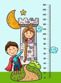 Metermuur met sprookjesachtige illustratie