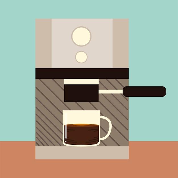 Methoden voor het zetten van koffie, cappuccinokop en apparaat