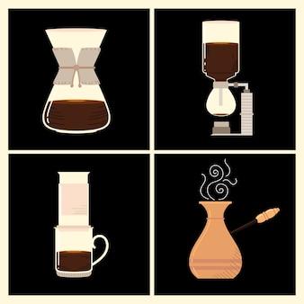 Methoden voor het zetten van koffie, verschillende manieren om warme energiedrank te maken