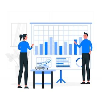 Metrics concept illustratie