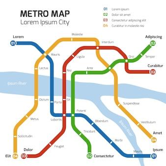 Metro metroplattegrond