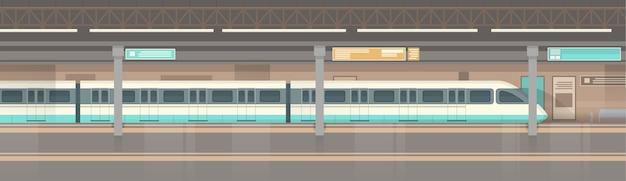 Metro tram moderne stad openbaar vervoer