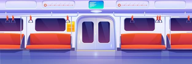 Metro trein auto, metro wagen interieur