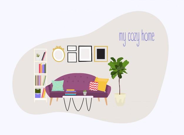 Meubels en woonaccessoires, waaronder banken, love seat, fauteuils, salontafel, bijzettafels en woondecoratie.