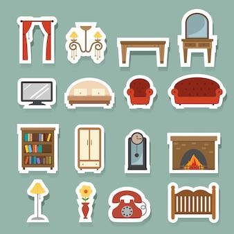 Meubels icons set