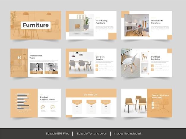 Meubels minimalisme presentatie schuifregelaar sjabloon