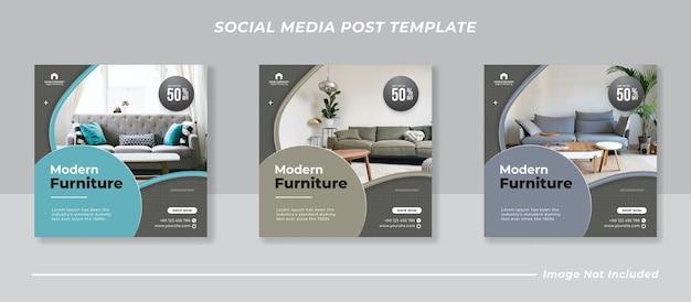 Meubels sociale media en instagram postsjabloon