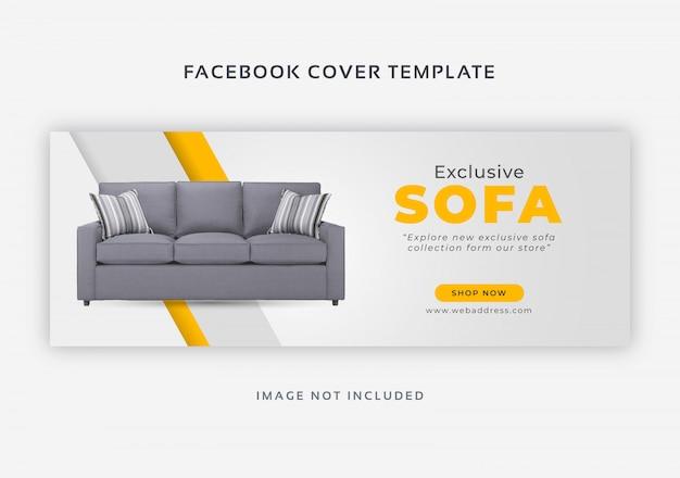 Meubels te koop facebook voorbladsjabloon