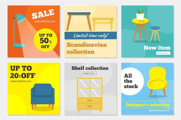 Meubels verkoop instagram post collectie
