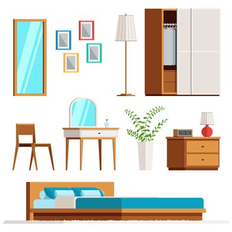 Meubels voor de interieur slaapkamer