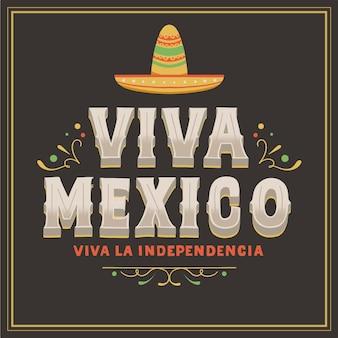 Mexic onafhankelijkheidsdag concept