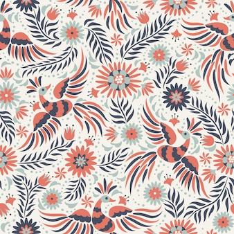 Mexicaans borduurwerk naadloos patroon