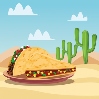 Mexicaans eten cartoons