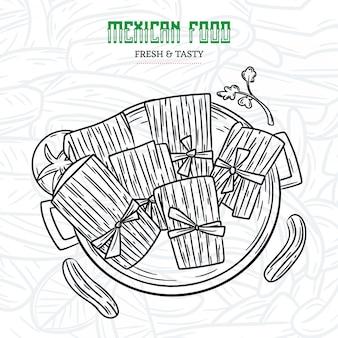 Mexicaans eten schets