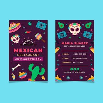 Mexicaans eten sjabloon voor visitekaartjes