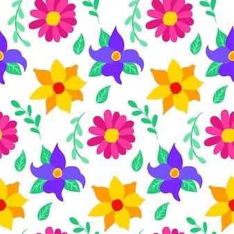 Mexicaans naadloos bloemenpatroon. vectorillustratie van bloem achtergrond.
