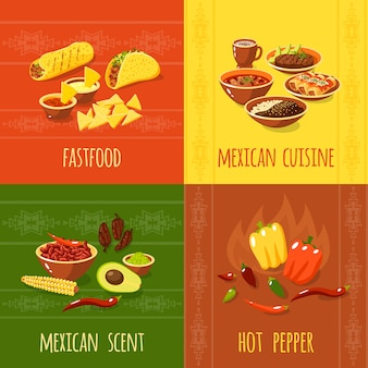 Mexicaans ontwerpconcept