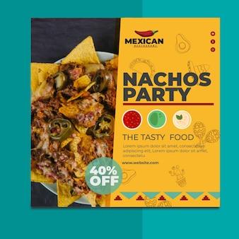 Mexicaans restaurant flyer plein