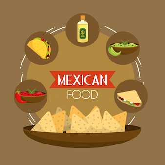 Mexicaans taco's eten met tequila en avocado